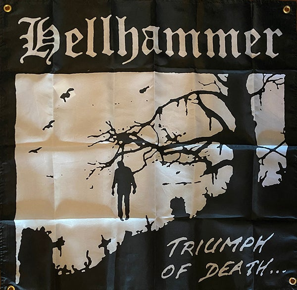 """Image of Hellhammer """" Triumph Of Death """" Flag / Banner / Tapestry"""
