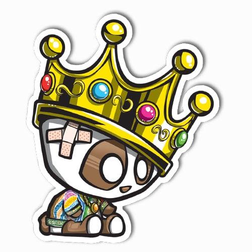 Image of Biggie Panda with Crown Sticker