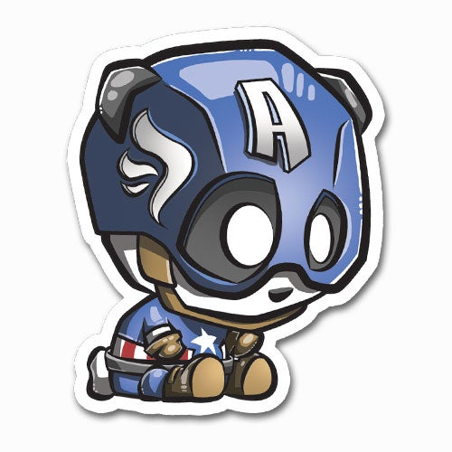 Image of Captain Panda Sticker