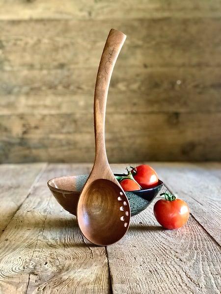 Image of Large left/right straining ladle