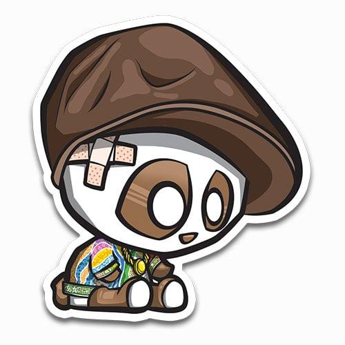 Image of Biggie Panda with Hat Sticker