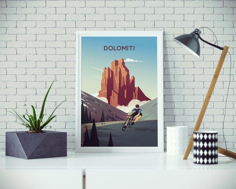 Cycling Print - Dolomiti