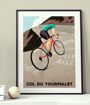 Cycling Print - Col du Tourmalet New