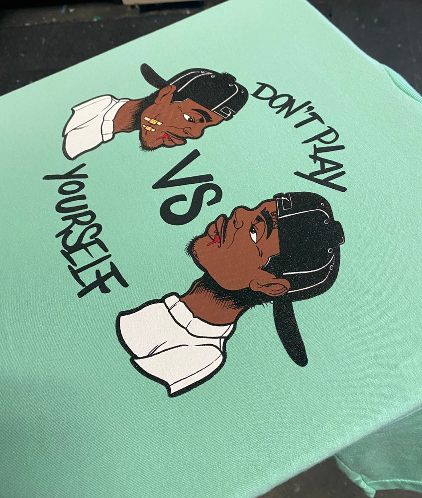 """Image of QTRS """"Don't Play Yourself"""" Tees"""