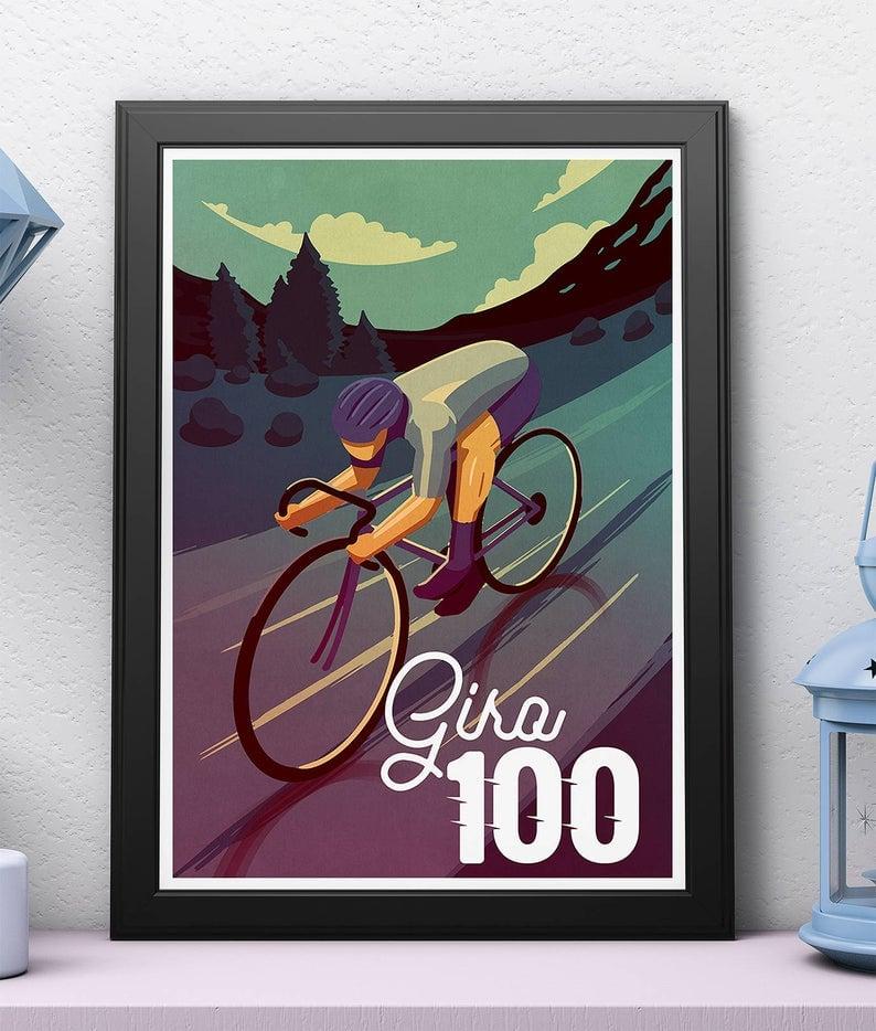Cycling print - Giro 100