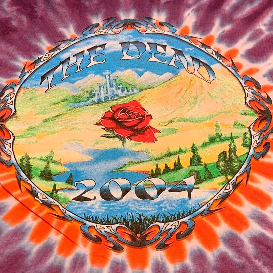 MEDIUM Original The Dead 2004 Summer Tour Short Sleeve Tie Dye Tee!