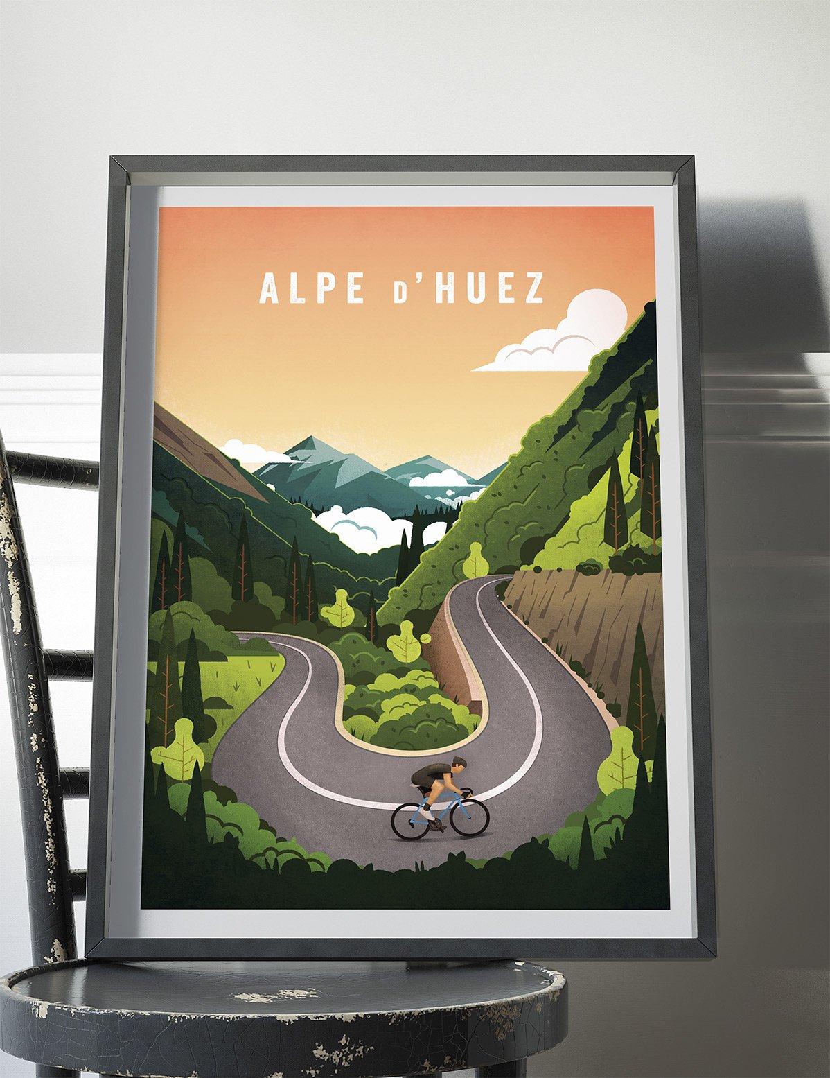 Cycling Print - Alpe d'Huez