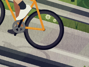 Cycling Print - Into the Hills