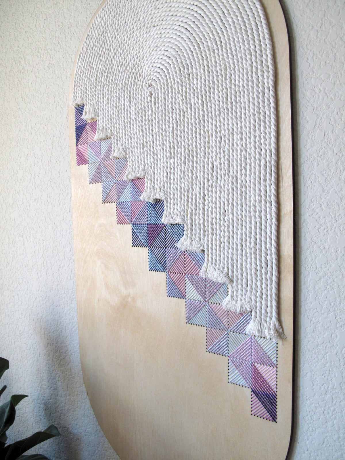 Curved Crosshatch Wall Art