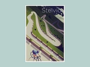 Cycling Print - Stelvio
