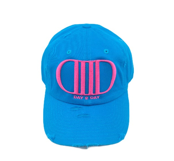 Water Blue/Pink Dad Hat