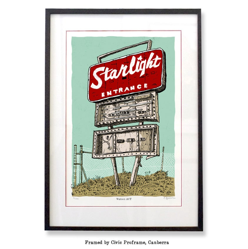 Image of Canberra Starlight Drive-in Limited Edition Digital Print