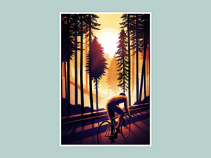 Cycling Print - Sunrise