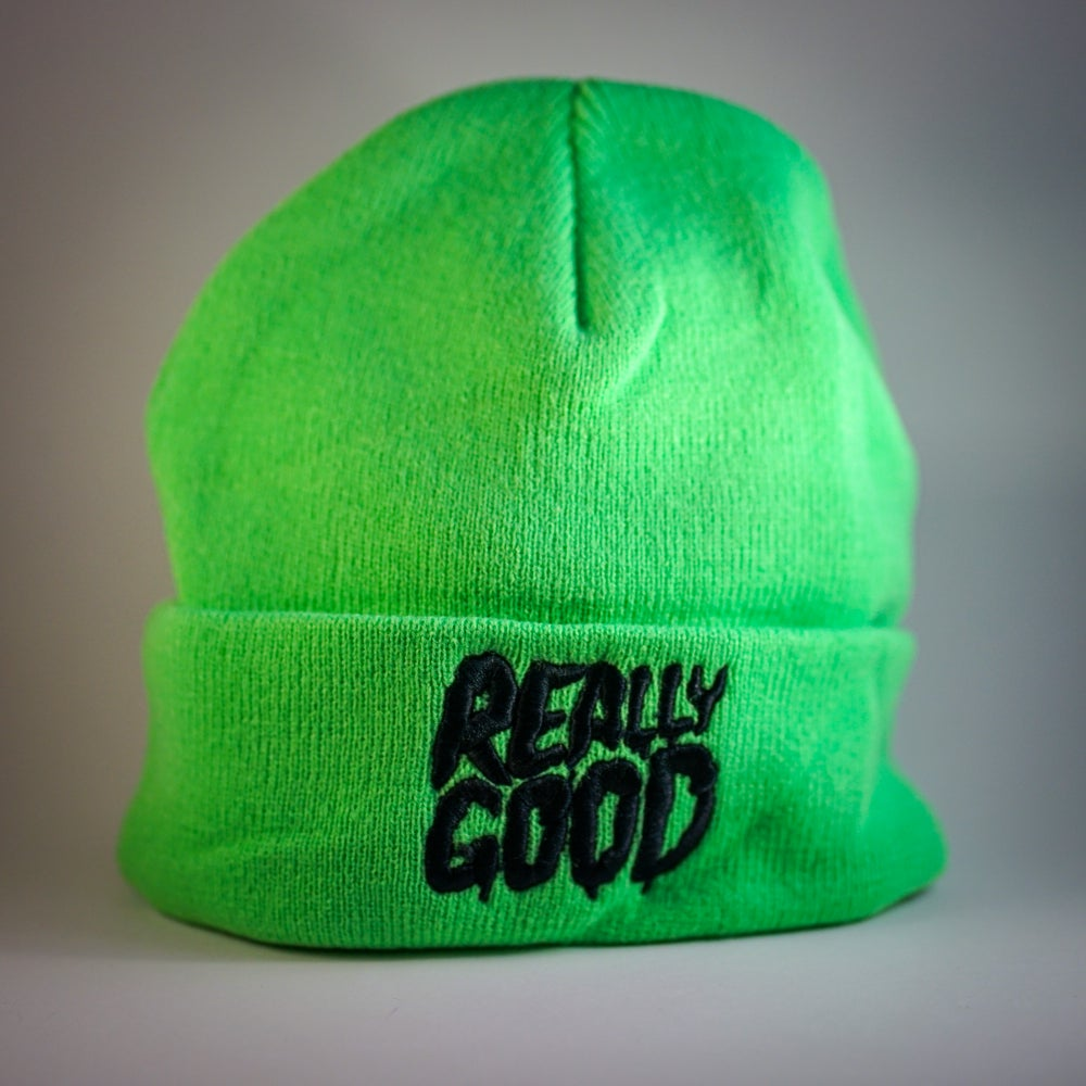 Image of Really Good Toque - Beenie  Mint Green Karimo Logo