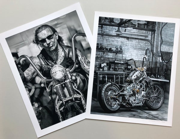"Image of ""Solitude"" and ""American Original""  giclée prints/set"