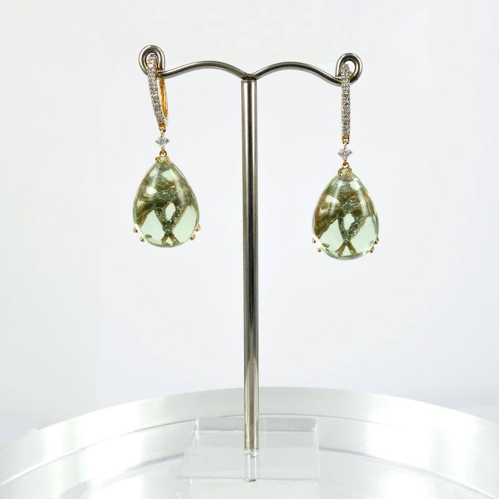 Image of m1662 - Green Amethyst drop earrings