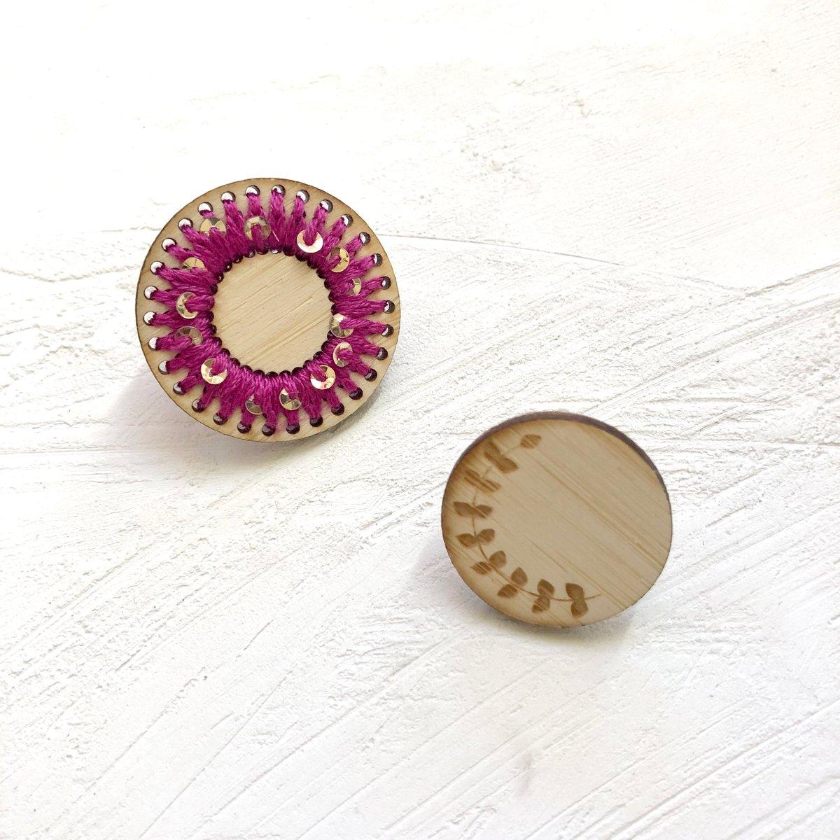 Magenta Spiral Pin Set