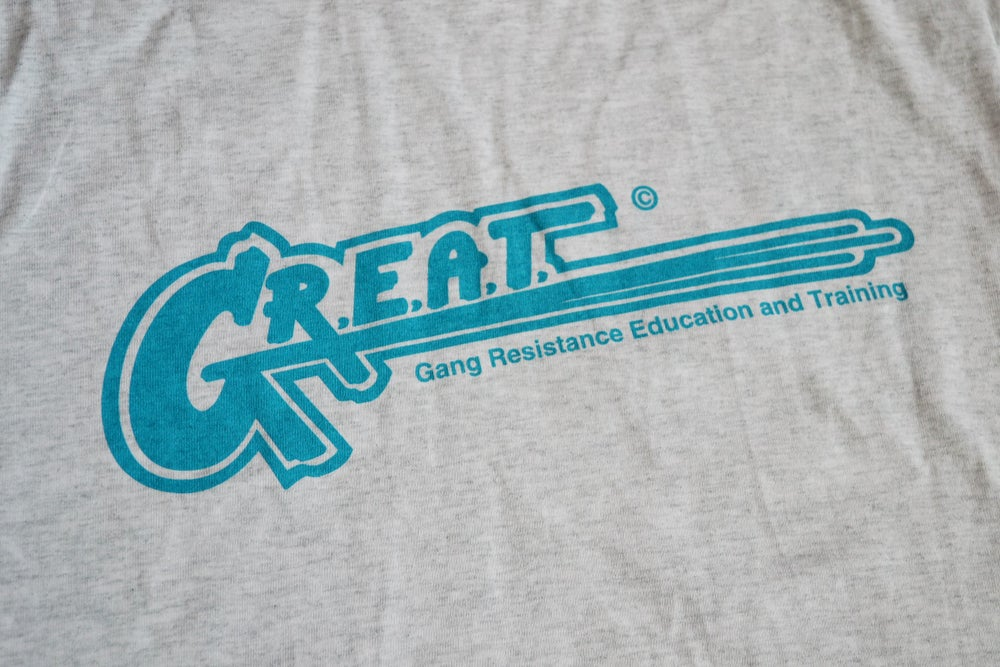 Image of Vintage 1994 G.R.E.A.T.  Gang Resistence Education and Training T-Shirt Sz.S