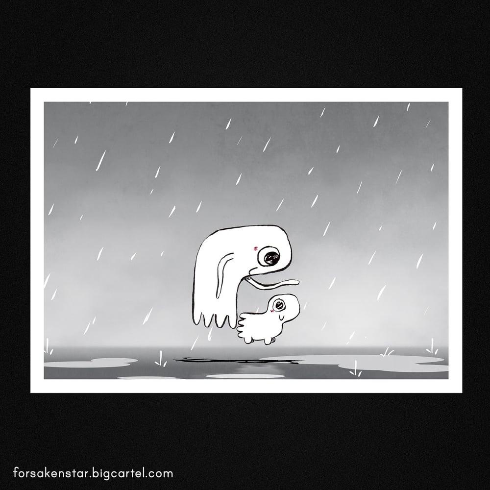 Image of Under the rain - A4 (21 x 29,7 cm)