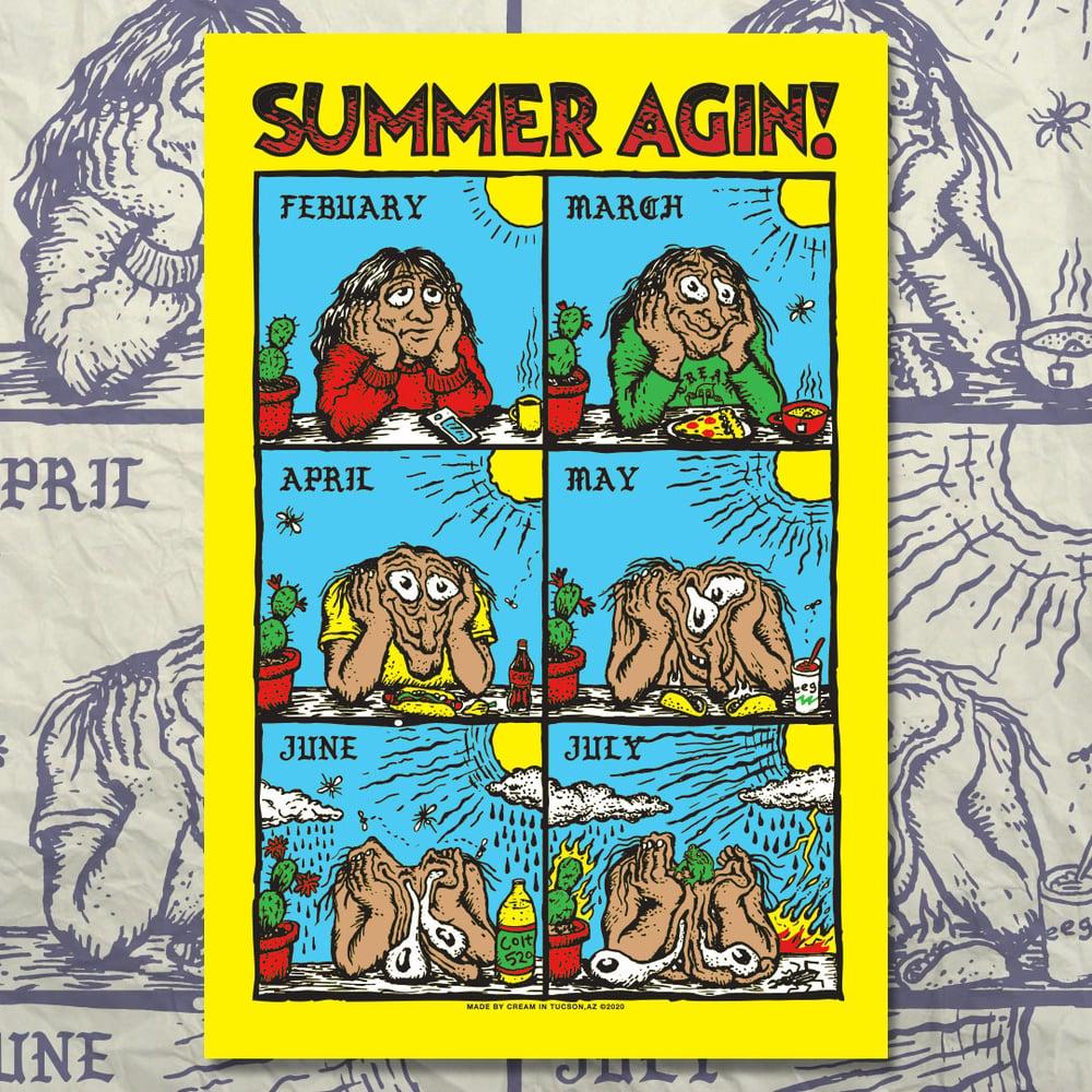 """""""SUMMER AGIN"""" - 12"""" x 18"""" Poster"""