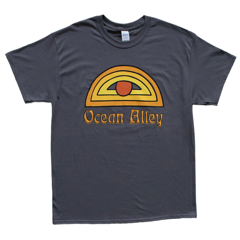 Image of Ocean Alley Sun Eye Tee Charcoal T-Shirt