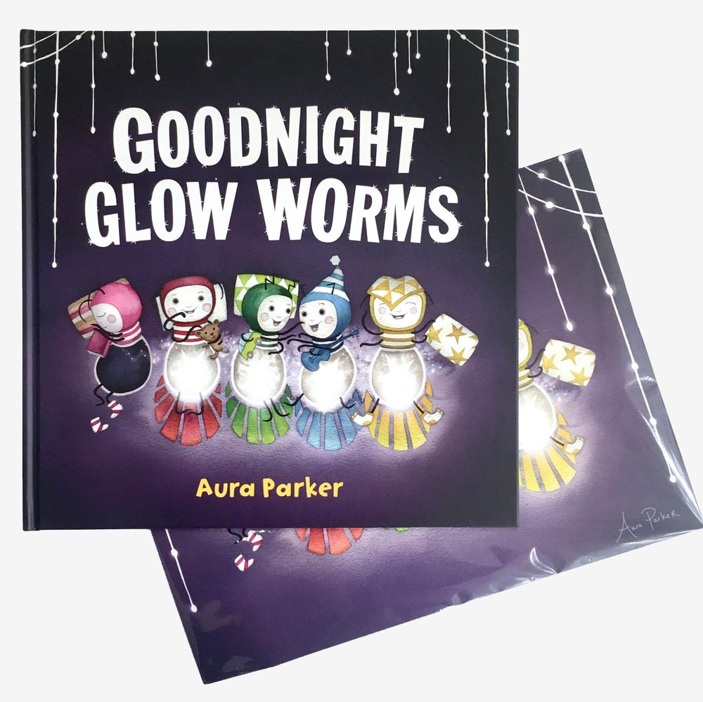 Image of Goodnight Glow Worms, signed book and print