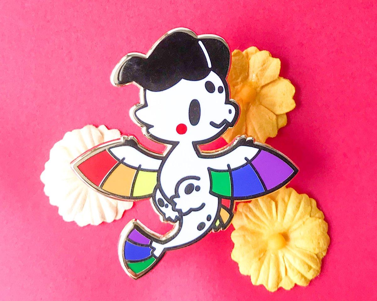 Rainbow Pride Dragon Enamel Pin