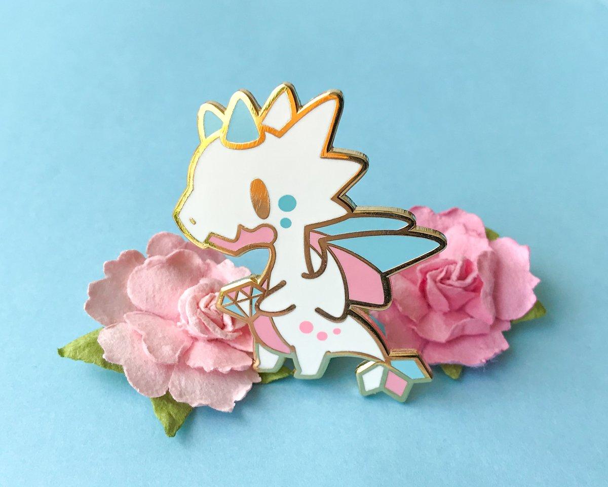 Trans Pride Dragon Enamel Pin