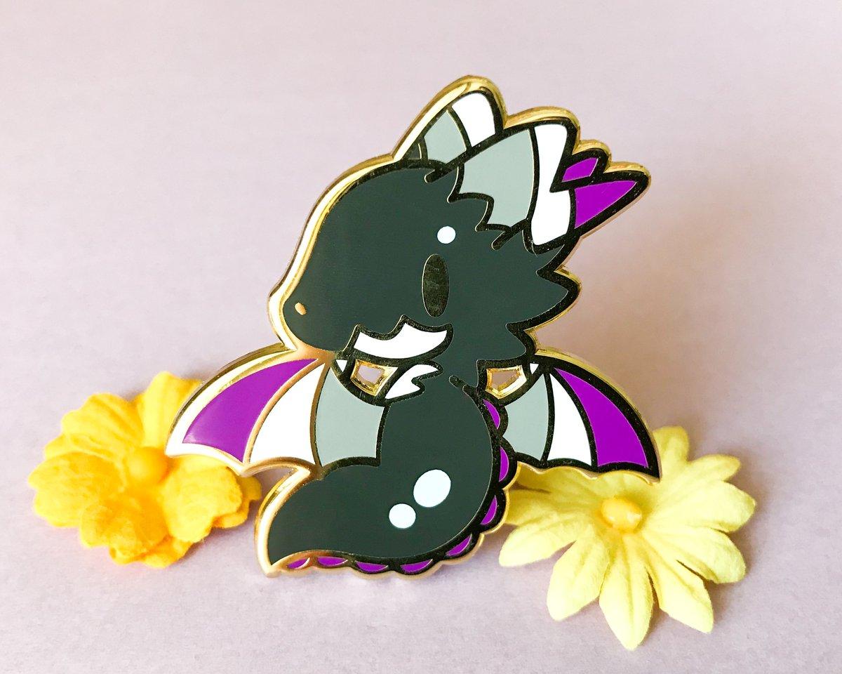 Ace Pride Dragon Enamel Pin