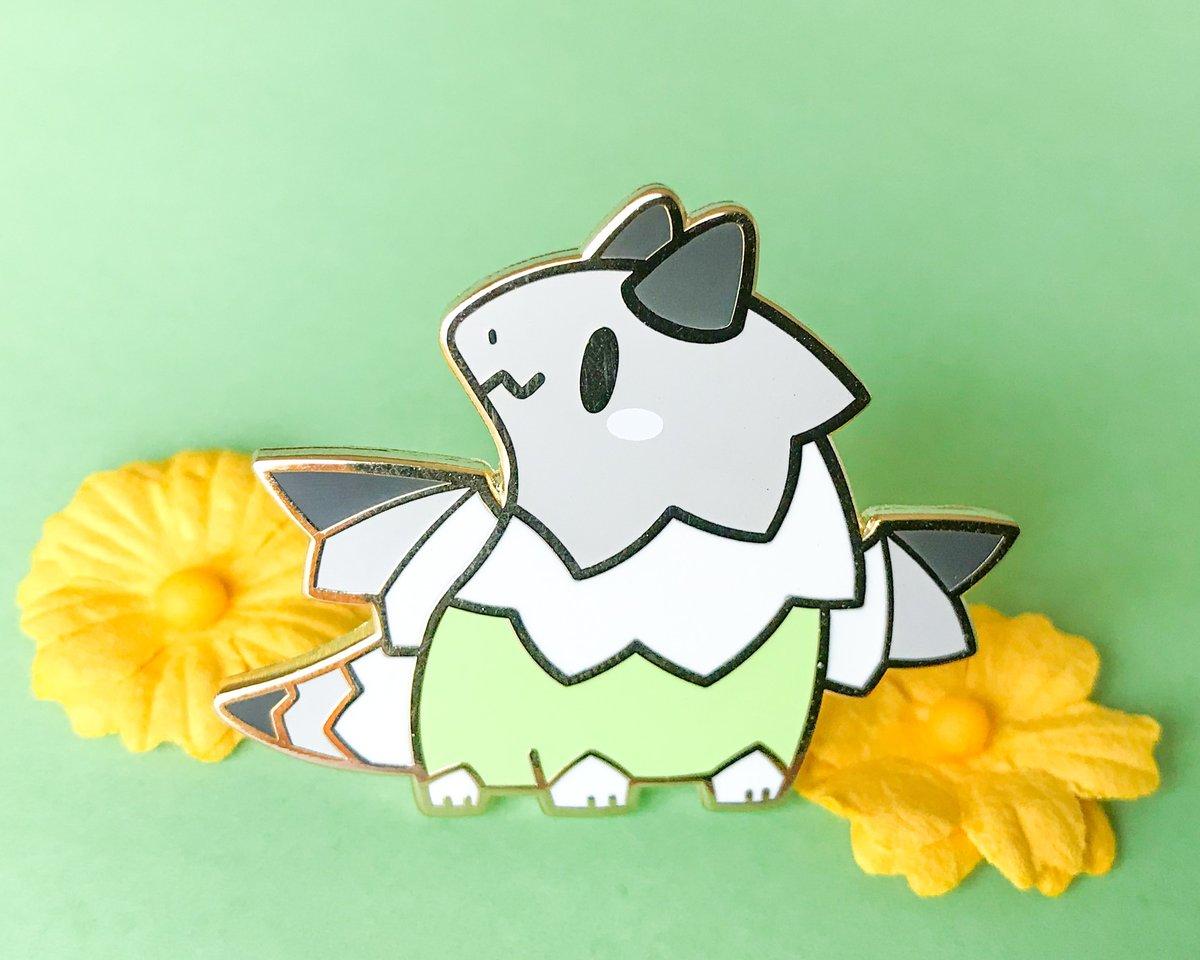 Agender Pride Dragon Enamel Pin