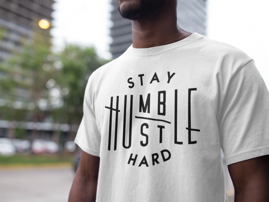 Image of Men's Stay Humble Tee (WHITE)