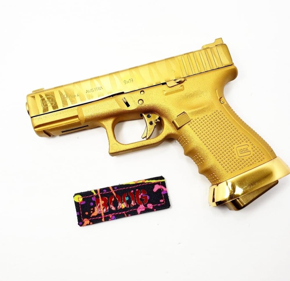 Image of BOOG Splatter Paint laser cut patch