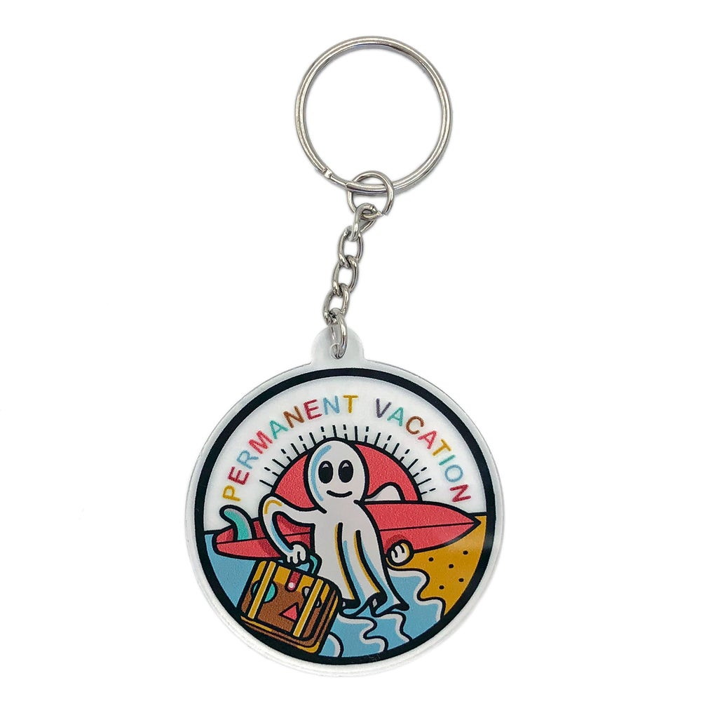 Image of Permanent Vacation acrylic keychain