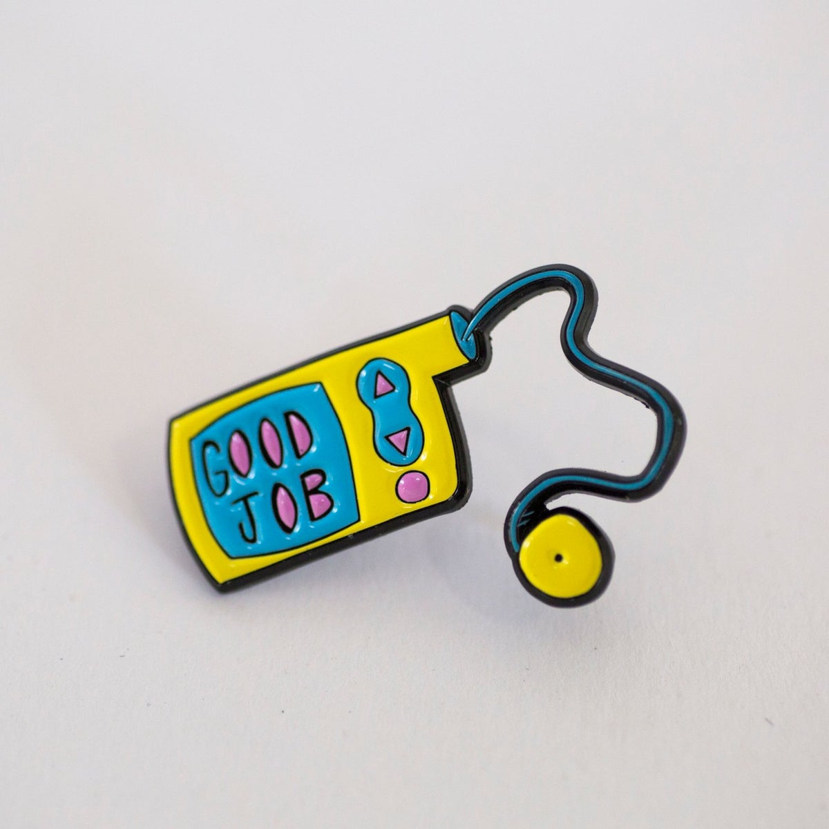 Image of Good Job Label Pin
