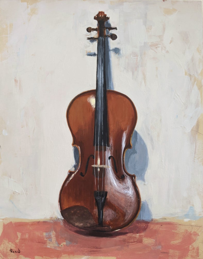 Image of Study of a Violin II (Original)