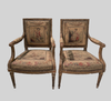 Pair of 18th C French Giltwood Chairs