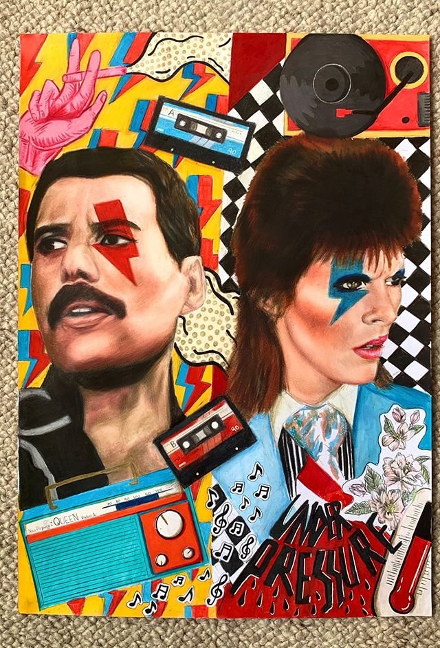 """Under Pressure"" Freddie and Bowie (Prints & Original)"