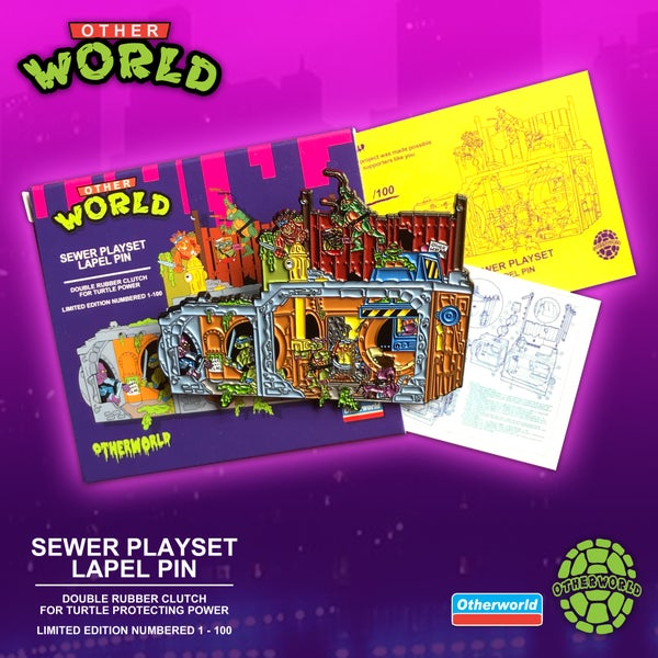 Image of Sewer Playset lapel pin
