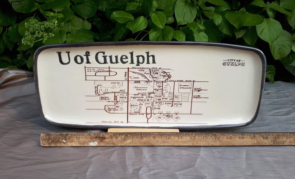 Image of U of Guelph Large Platter PICK UP ONLY