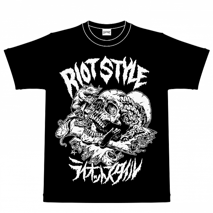 Image of RIOT STYLE X VERDY SKATE RAT T-SHIRT BLACK (VK DESIGN)
