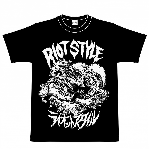 Image of 🗽🐀  RIOT STYLE X VERDY SKATE RAT T-SHIRT BLACK (VK DESIGN)