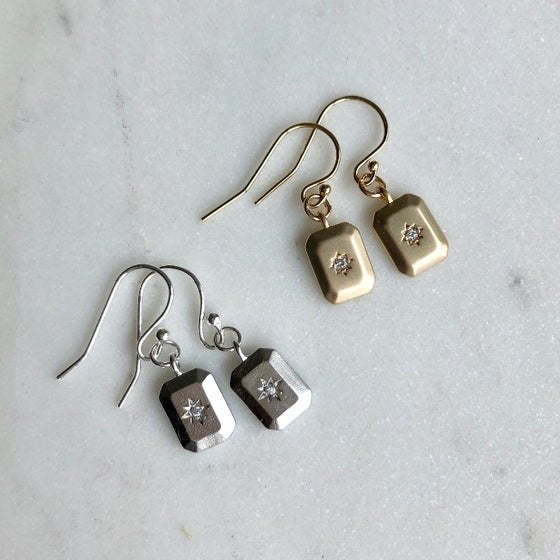 Image of Celestial Rectangular Earrings