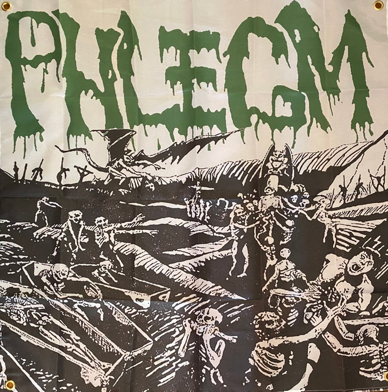 "Image of Phlegm "" Consumed By The Dead "" Flag / Banner / Tapestry"