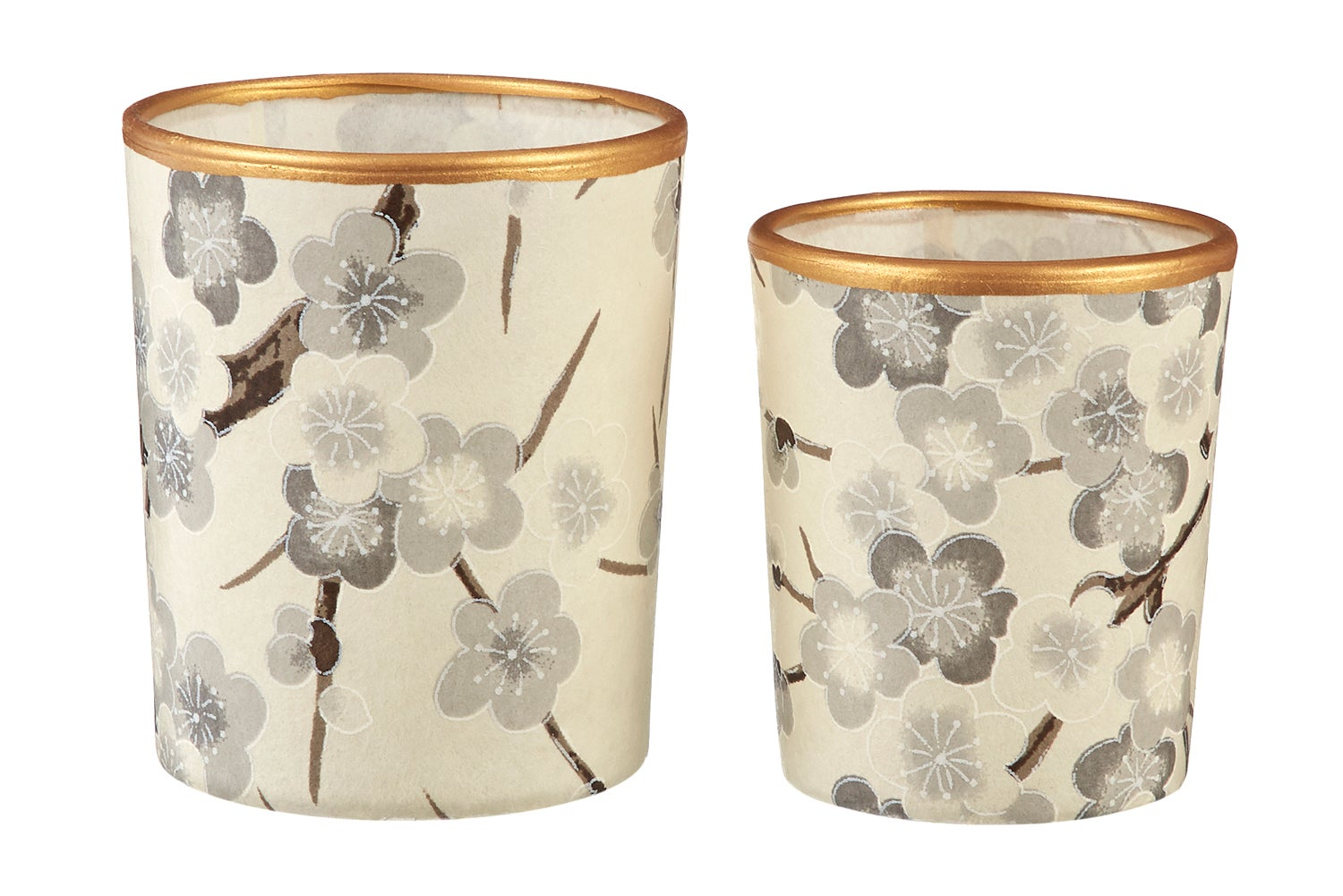 Image of Candle holders * Grey floral