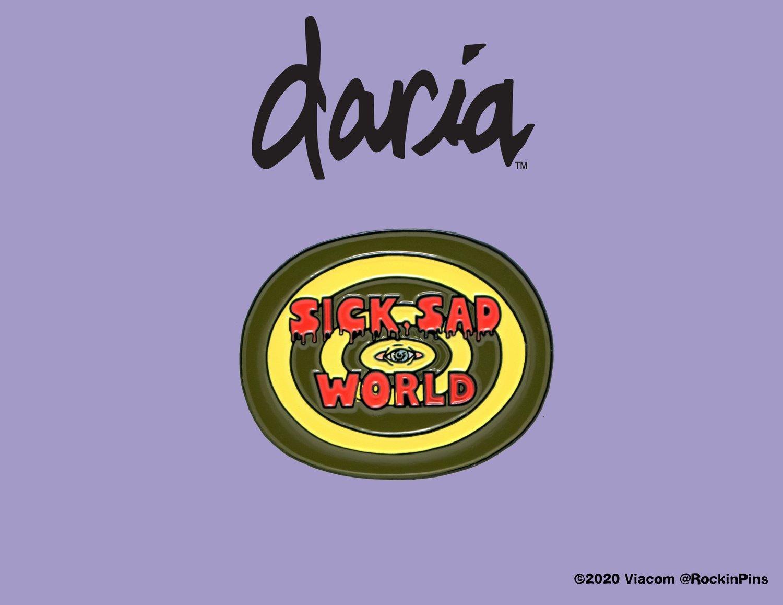 Image of Daria - Sick Sad World Enamel Pin