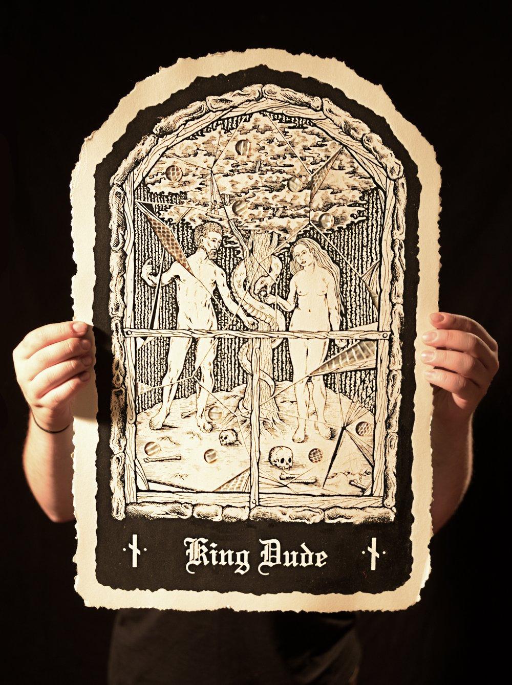 Image of King Dude snake skin poster