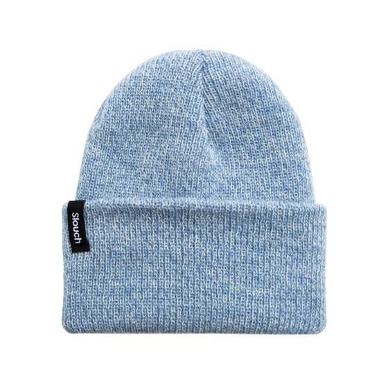 Image of Heather Blue Knit Cuff Beanie