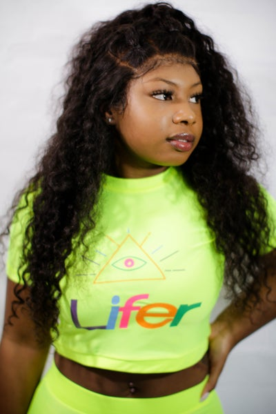 Image of LLC NEON LIGHTS CROP TOP AND LEGGING SET (NEON)