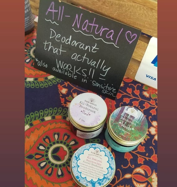 Image of 2 oz. Natural deodorant - now also available in baking soda free, for sensitive skin!
