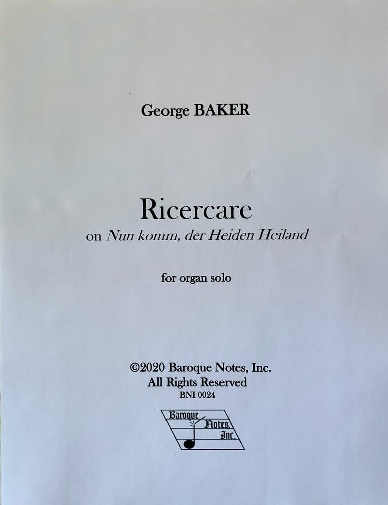 Image of Ricercare on Nun komm, der Heiden Heiland (PDF)